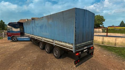 dirty rusty trailer nefaz    ets euro truck