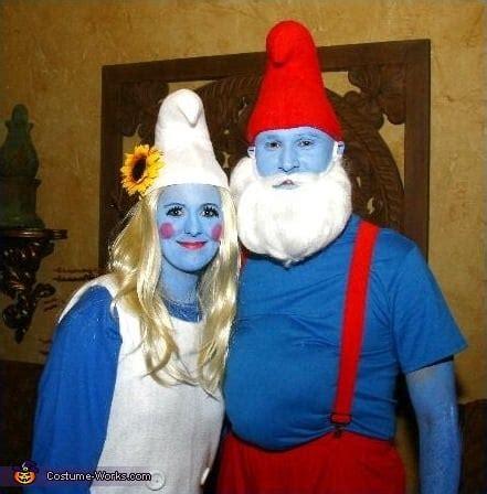 papa smurf  smurfette  creative couples costume