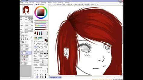 paint tool sai drawing hair how i draw hair in sai