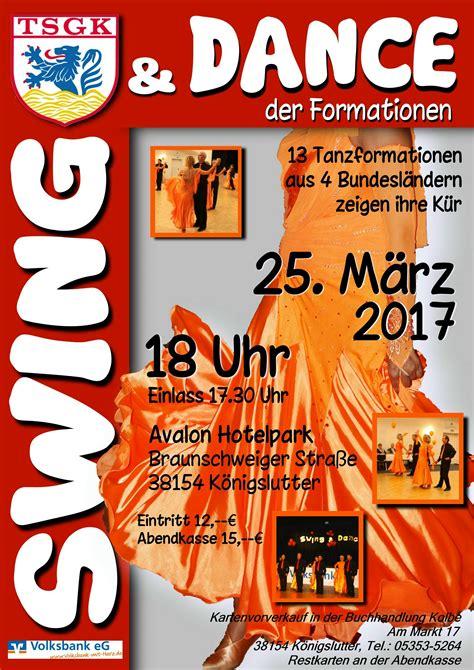Swing Plakat by Tanzen In K 246 Nigslutter