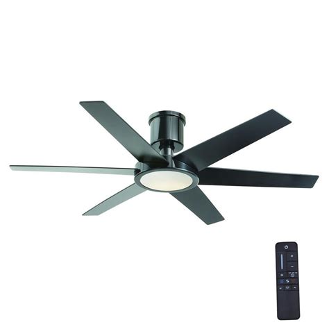 black ceiling fan light kit home decorators collection clermont 52 in led indoor
