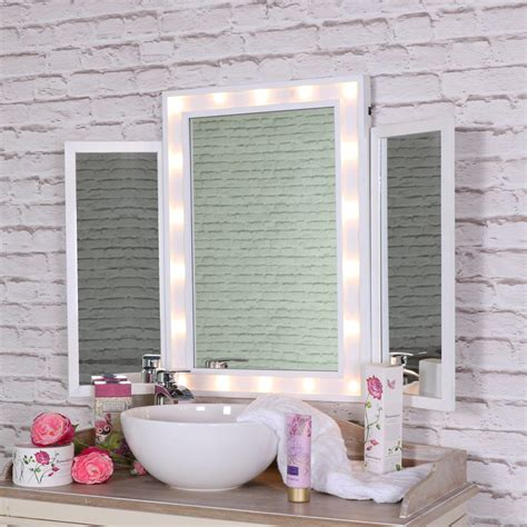 Large Vanity Mirror by Large White Led Light Up Vanity Mirror Melody Maison 174
