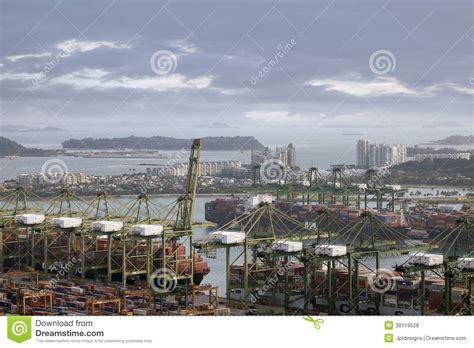 porto singapore porto di singapore fotografia stock editoriale immagine