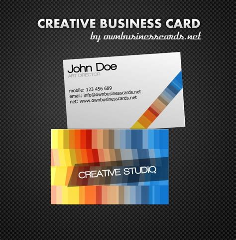 creative visiting card templates creative business card template