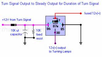relay for turn signal brake priority