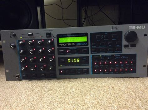 Rack Mount Synth by Matrixsynth E Mu Proteus 2500 Rack Mount Synth With 5
