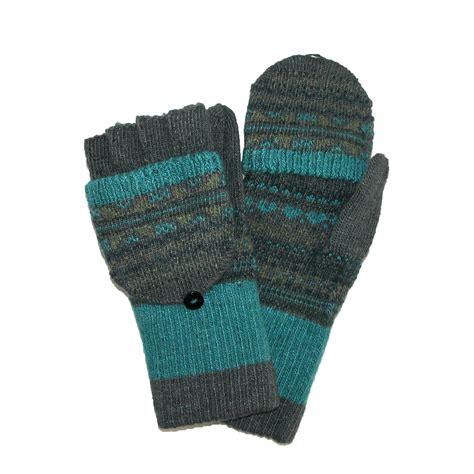 womens knit gloves womens knit flip top fingerless gloves mittens by jeanne