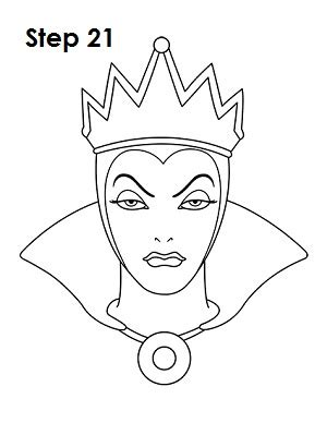 evil queen coloring page how to draw the evil queen snow white