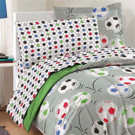 soccer comforter twin boys bedding twin comforters sheets linens bed soccer