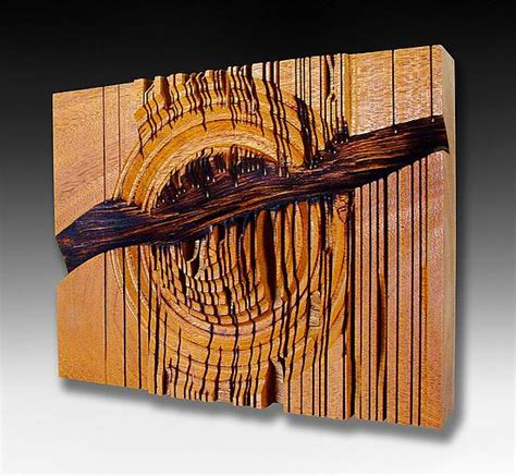 artistic woodworking deconstruction by gillespie wood wall sculpture