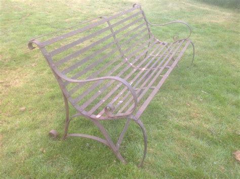 wrought iron bench uk 19th century antique wrought iron garden bench 399478