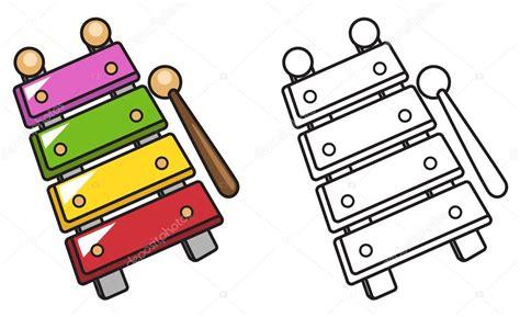 imagenes animadas de xilofono xil 243 fono color y blanco y negro para colorear libro