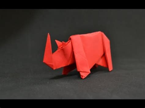 How To Make A Rhino Out Of Paper - origami rhino