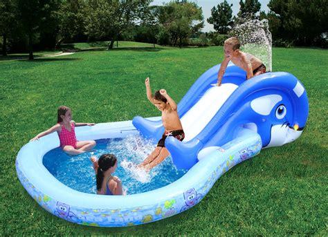 piscine per bambini da giardino banzai piscina per bambini piscina bambini wal con scivolo