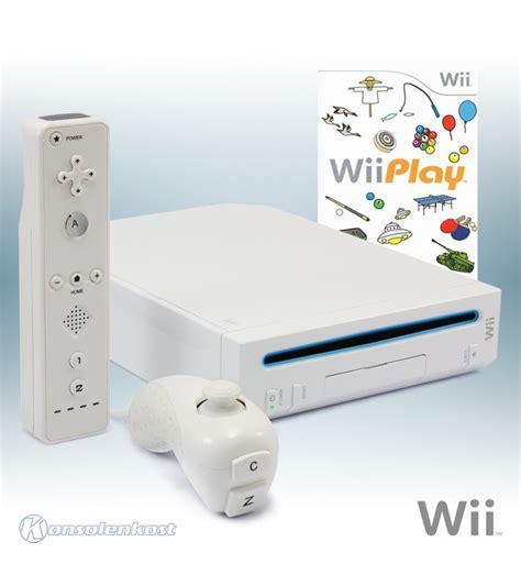 nintendo wii console white incl nintendo wii console white incl wii play remote