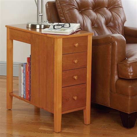 cherry end tables with storage no room for a table table with drawers end table levenger