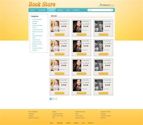 ecommerce website templates for books book online store template free ecommerce website