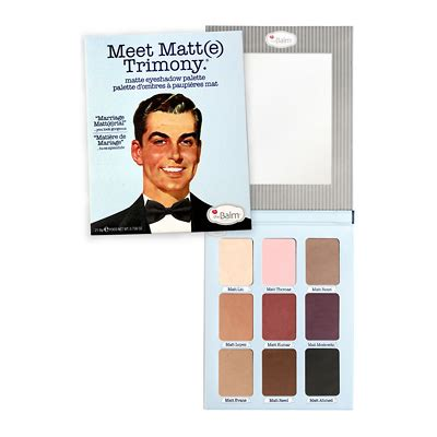 Thebalm Eyeshadow Palette 1 thebalm meet matt e trimony eye shadow palette feelunique