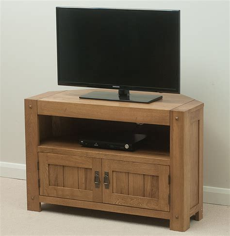 Oak Tv Cabinets by Quercus Rustic Solid Oak Corner Tv Cabinet Lounge Furniture