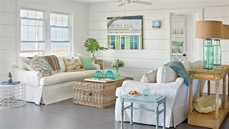Coastal Livingroom by 40 Beautiful Beachy Living Rooms Coastal Living