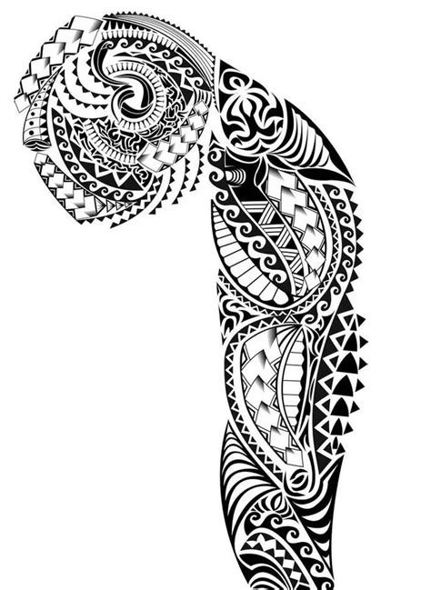 designing a sleeve tattoo template 30 hawaiian pattern tattoos