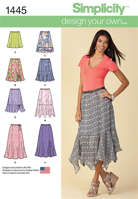 pattern review best patterns 2014 simplicity 1445 misses design your own skirt with length