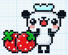 panda pixel template pixels madness the celebration of pixel smashing