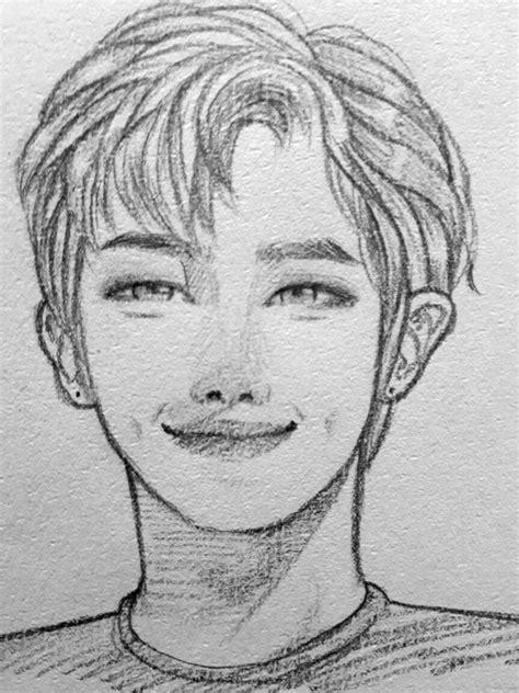 R Sketches by Rm Rapmonster Bts Btsfanart 방탄소년단 Namjoon