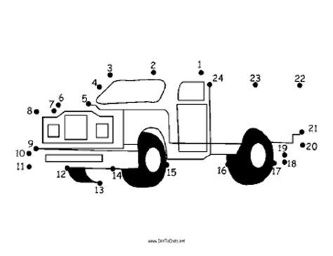 printable dot to dot truck printable pickup dot to dot puzzle