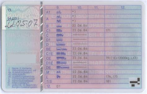 Motorrad Führerschein Code 79 03 by Schl 252 Sselzahlen Zahlencodes Auf Dem F 252 Hrerschein