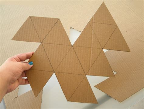 How To Make Paper Geometric Shapes - how to make a geo faceted cement planter tuts crafts