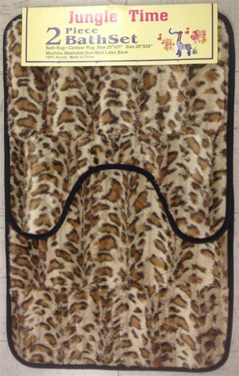 faux fur bathroom rugs faux fur leopard zebra animal 2 piece bathroom area rug