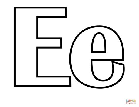 coloring pages of letter e classic letter e coloring page free printable coloring pages