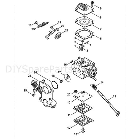 stihl chainsaw carburetor diagram stihl ms 441 chainsaw ms441 c mw parts diagram