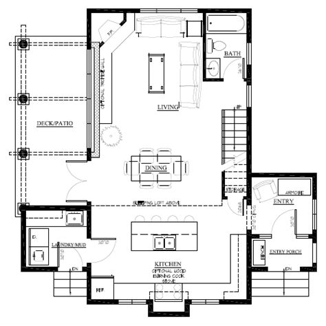 small footprint house plans like the layout for the kitchen dining living area the sinda cabin small footprint cottage