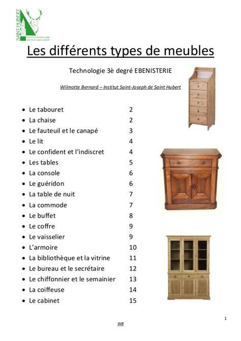 les diff駻ents types de cuisine les differents types de meubles