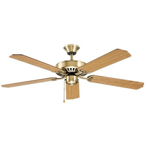 ceiling fan downrod lowes shop litex 52 in antique brass downrod or flush