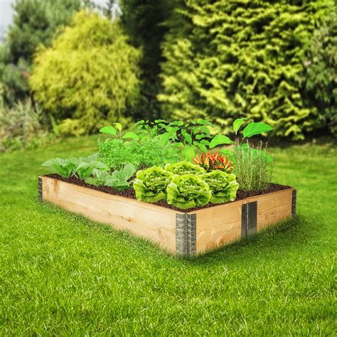 Raised Bed Garden Frames Raised Vegetable Garden Bed Frame Foldable Planter Kit Grow Gardening 120x80x19 Ebay