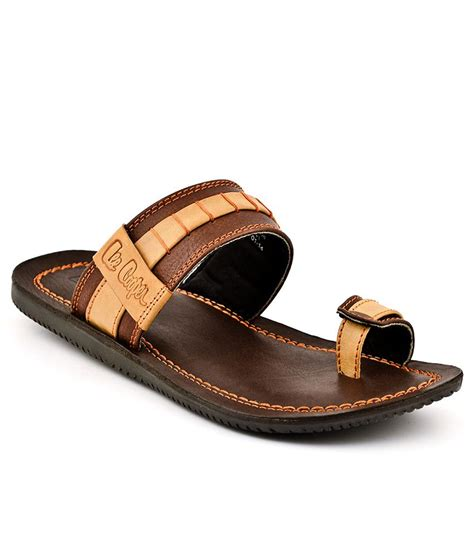 leecooper slippers buy cooper brown slippers for snapdeal