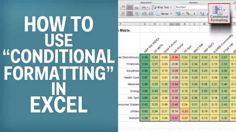 How To Use A For Mat how to use quot conditional formatting quot in excel