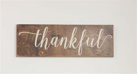 woodworking sign thankful wood sign stained wood sign thanksgiving harvest