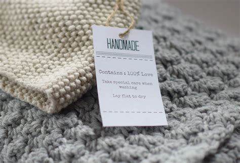 Things Handmade - gift labels and tags for handmade items in a stitch