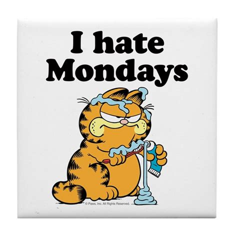 I Hate Mondays Tile Coaster by garfield