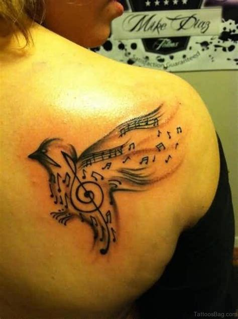 music bird tattoo 40 great looking birds tattoos on back