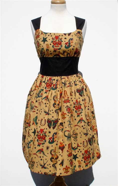 dress tattoo vintage pin me up dress