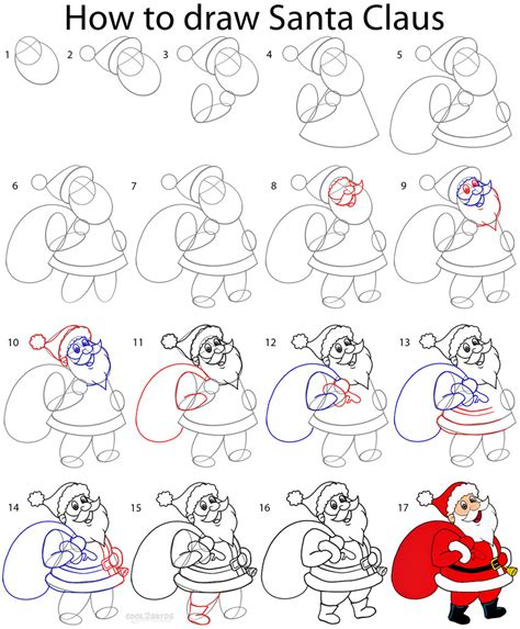 christmas pictures step by step how to draw santa clause step by step pictures cool2bkids
