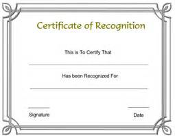 Recognition Certificate Free Printable Templates Certifiatetemplate » Ideas Home Design