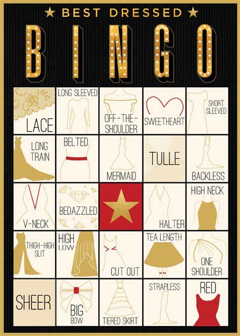 Awards Show Bingo: Gown Edition   Evite