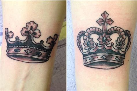 matching crown tattoos 69 magnificent crown ideas for who are