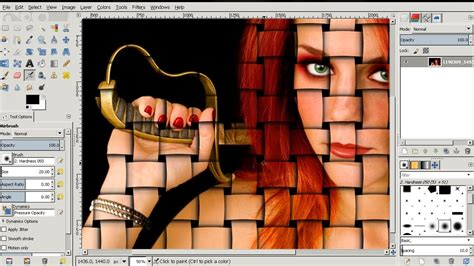 Tutorial Gimp 2 8 Español | interweaving photo effect gimp 2 8 tutorial gimp video